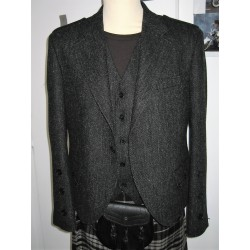 Veste Argyll Harris tweed couleur Charbon