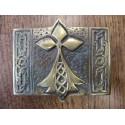 Boucle de ceinture de Kilt Hermine Bretonne Bronze
