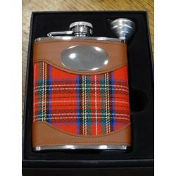 Flasque inox tartan royal stewart (ref 034)