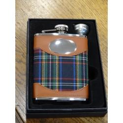 Flasque inox tartan black stewart (ref 033)