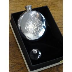 Flasque ronde etain croix celtique (ref 490)