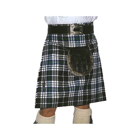 Kilt Traditionnel en Tartan National Grey