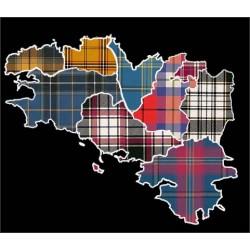 Kilt Traditionnel en Tartan des pays bretons