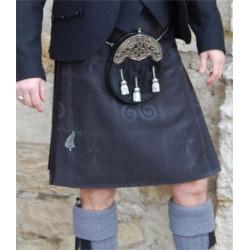 Kilt Traditionnel en Tartan Symboles Bretons