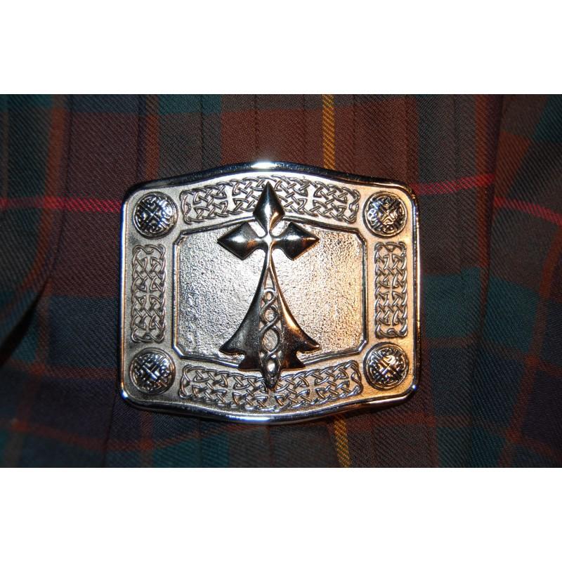 3ab2a4c34b44 Boucle de ceinture de kilt représentant l hermine bretonne en nickel chromé