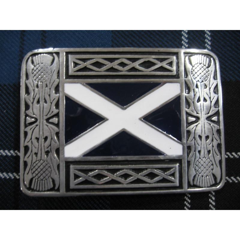 3c6dd5c16e5f Boucle de ceinture de kilt représentant le drapeau écossais